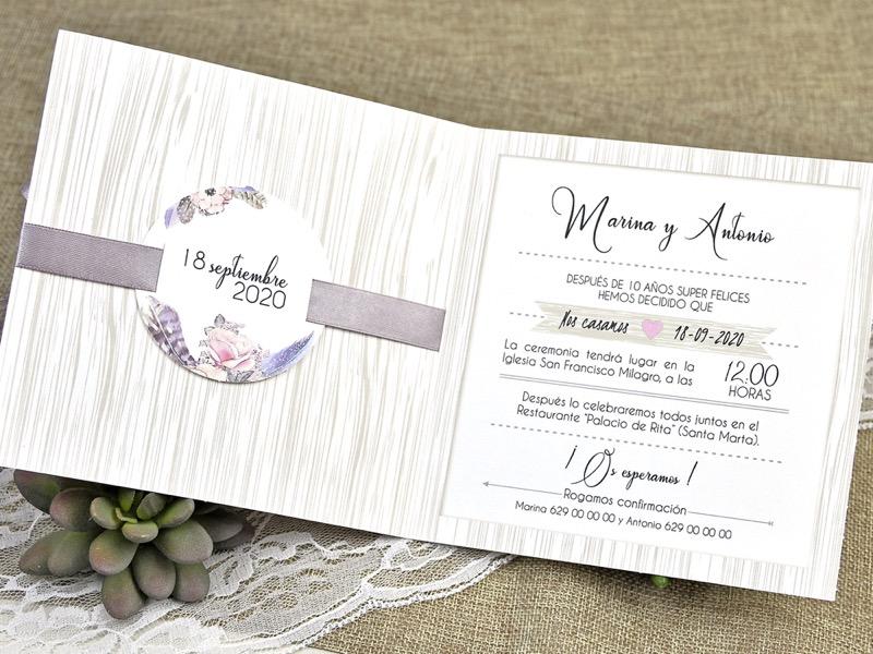 Invitaciones de boda coleccion emma 2020-2021 imprenta dimension print teruel-249